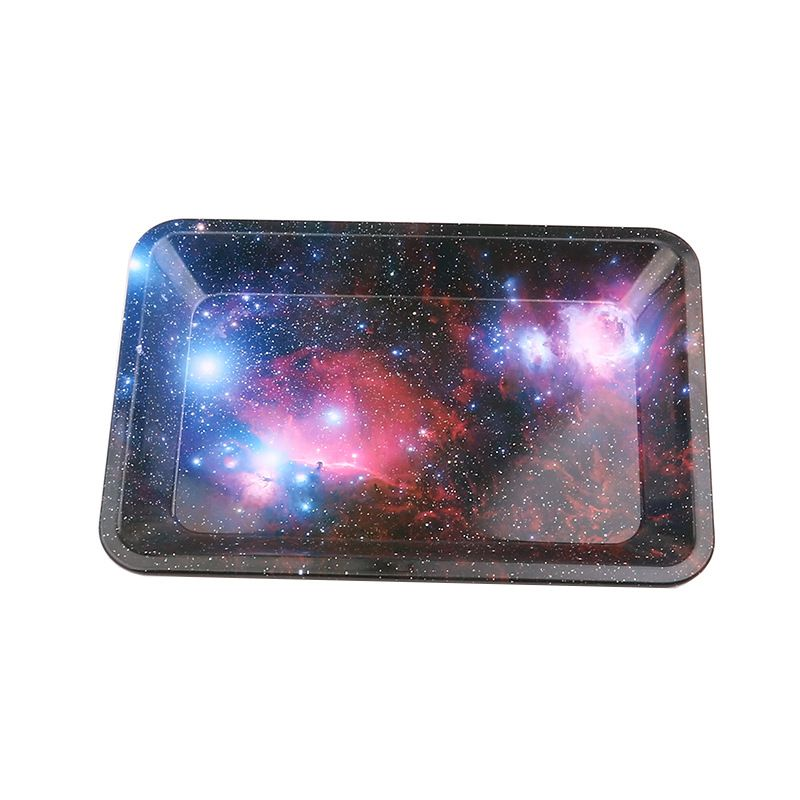 Starry Sky Tobacco Rolling Tray Storage Plate Discs For Smoke Bob Marley Weed Herb Grinder Cigarette Container Tray