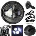 1 шт. 6 5 ''Универсальный матовый черный светодиодный фонарь для мотоцикла дальнего и ближнего света с креплением на кронштейн Вилка для наушн...