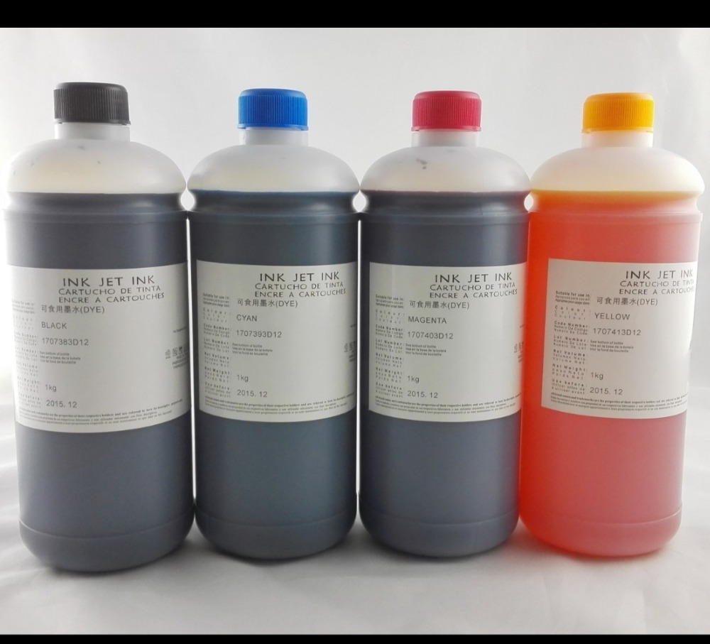 INK WAY INKWAY 6*1000ML Universal Edible Ink For Epson Desktop Inkjet Printer BK C M Y LC LM,HOTSALE led uv curable ink for epson 1390 printer head printing on hard materials for 3d effects 1000ml pcs 6c