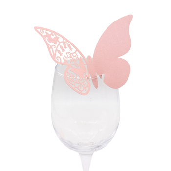 Mariposas de papel en color rosa
