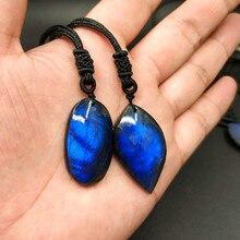 Natuurlijke kristallen hanger hanger Maansteen Labradoriet hanger natuursteen Labradoriet hanger blauw EEN product een foto