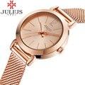 2017 luxo julius fina das mulheres relógios de pulso da forma da senhora relógio de aço inoxidável relógio de quartzo senhoras vestido relógio de ouro relogios
