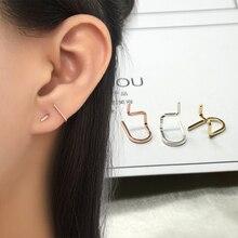 Domino Handmade U-shaped stud earrings minimalist in fashion