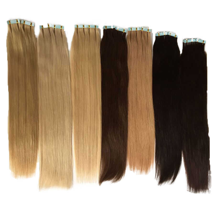 100 Gram Double Drawn Brazilian Remy Hair PU Tape Hair Weft Human Hair Extensions Skin Weft Color #1 #2 #4 #6 #8 #27 #30 #613