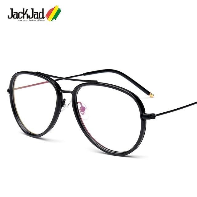 28f77d68f JackJad 2018 Do Vintage Da Moda Clássico Estilo Aviação TR90 Plain Óculos  de Armação dos Óculos