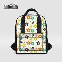 Dispalang известный бренд рюкзак звезды печати Женщины Latop рюкзаки девушки школьные сумки леди рюкзак Повседневная сумка Mochilas