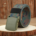 Male Automatic Buckle Belt Nylon Army Tactical Belt Man Military Life Canvas Belts Camouflage printed  Belt