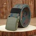 Masculino Hebilla Automática Cinturón de Nylon Ejército Cinturón Táctico Cinturón Hombre Cinturones de Lona Militar Camuflaje impreso
