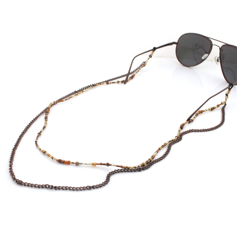 32a1f2437941 70cm Chic Reading Glasses Chain Beads Sunglasses Holder Fashion Neck Strap  Metal Rope Eyewear Accessories Lanyards New-in Accessories from Apparel ...