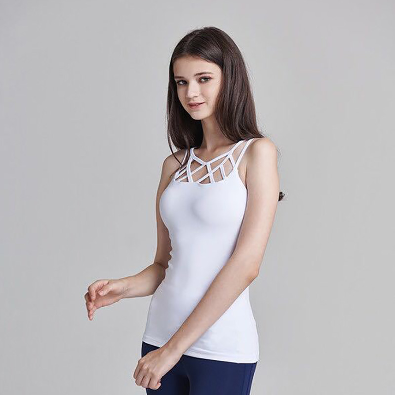 356a3d1343b New Sports Top Running Yoga T Shirts For Women Slim Workout Fitness Cross  Back Gym quick