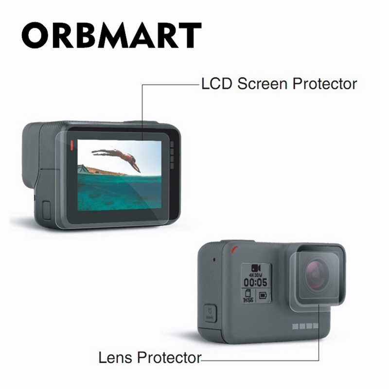 ORBMART Lens And Screen Protector Film For Gopro Hero 5 6 7