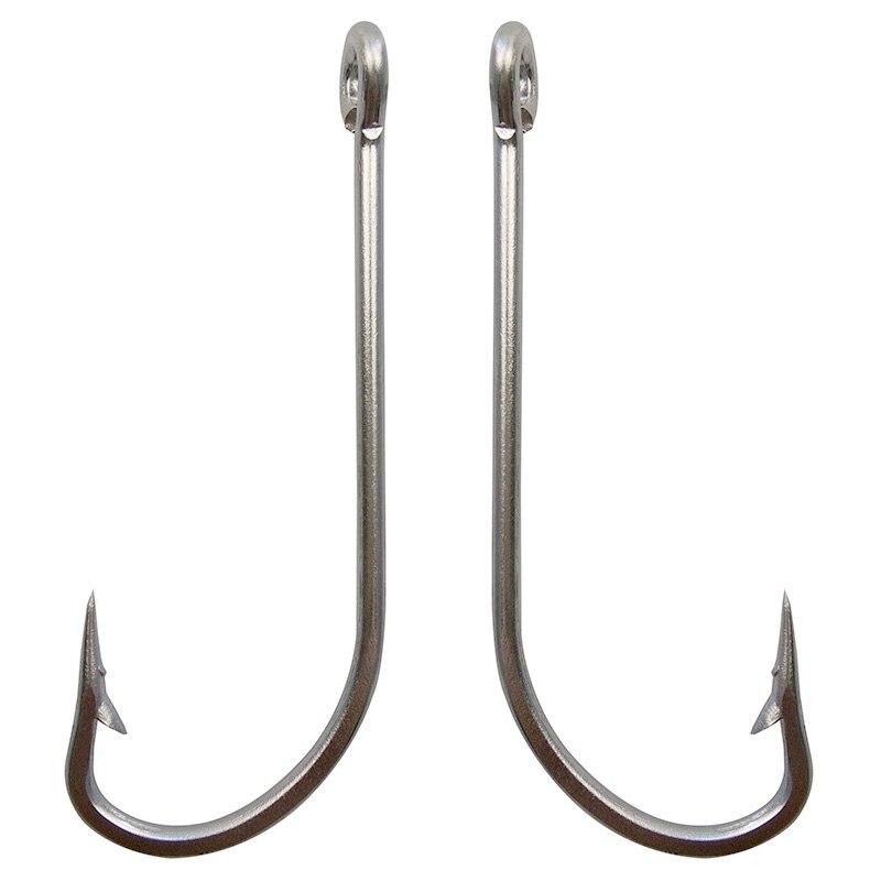 50pcs 34007 stainless steel fishing hooks white big extra for Stainless steel fishing hooks