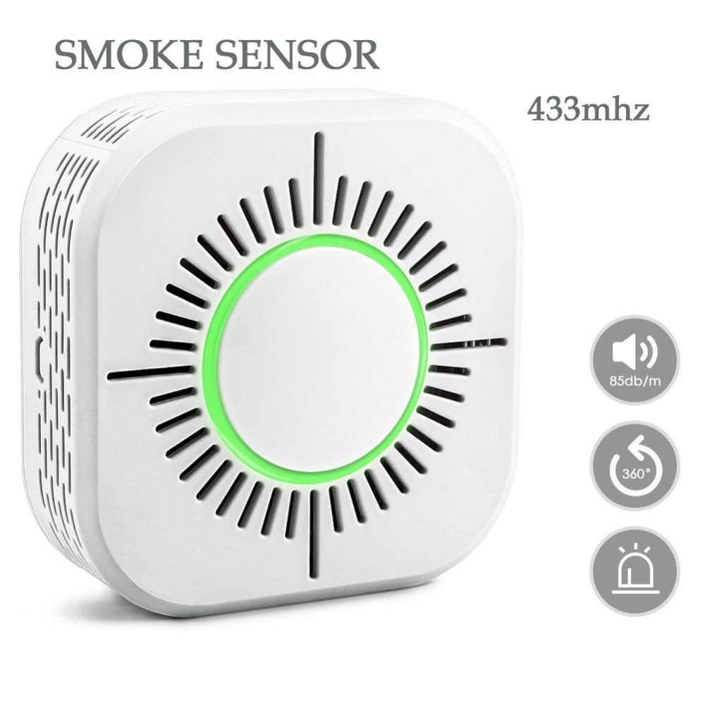 Smart Smoke Detector Wireless 433MHz Fire Security Alarm Protection Alarm Sensor For WIFI Office Home Security Alarm System