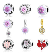 Fit Original Pandora Charms Bracelet Really 925 sterling silver Charm Beads DIY Jewelry Berloque 2017 Spring Newest Collection
