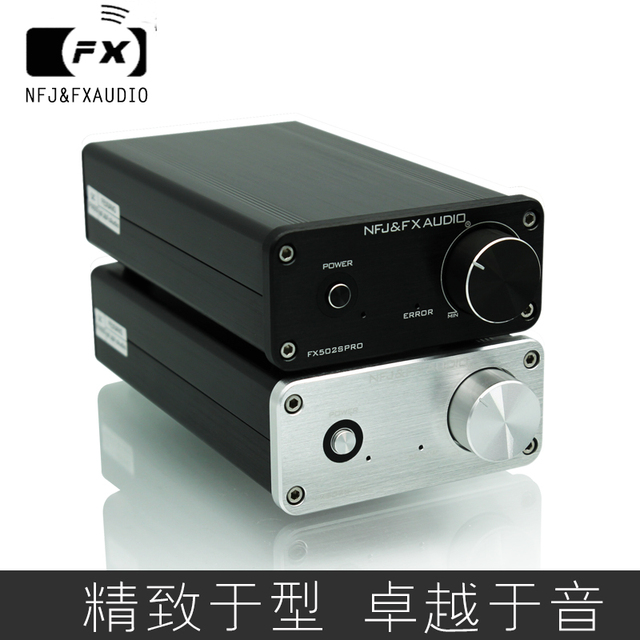 2019 FX-Audio New FX-502SPRO HiFi 2.0 Full Digital Audio Power Amplifier Adopting TPA3250 High Power 70W*2 DC24V/4A Power Supply