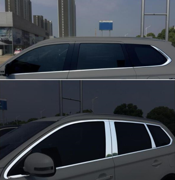 Car Window Pillar Trim Cover Stainless Steel Chrome Decoration for Mitsubishi <font><b>Outlander</b></font> 2014 2015 <font><b>2016</b></font> 2017 2019 Car Styling image