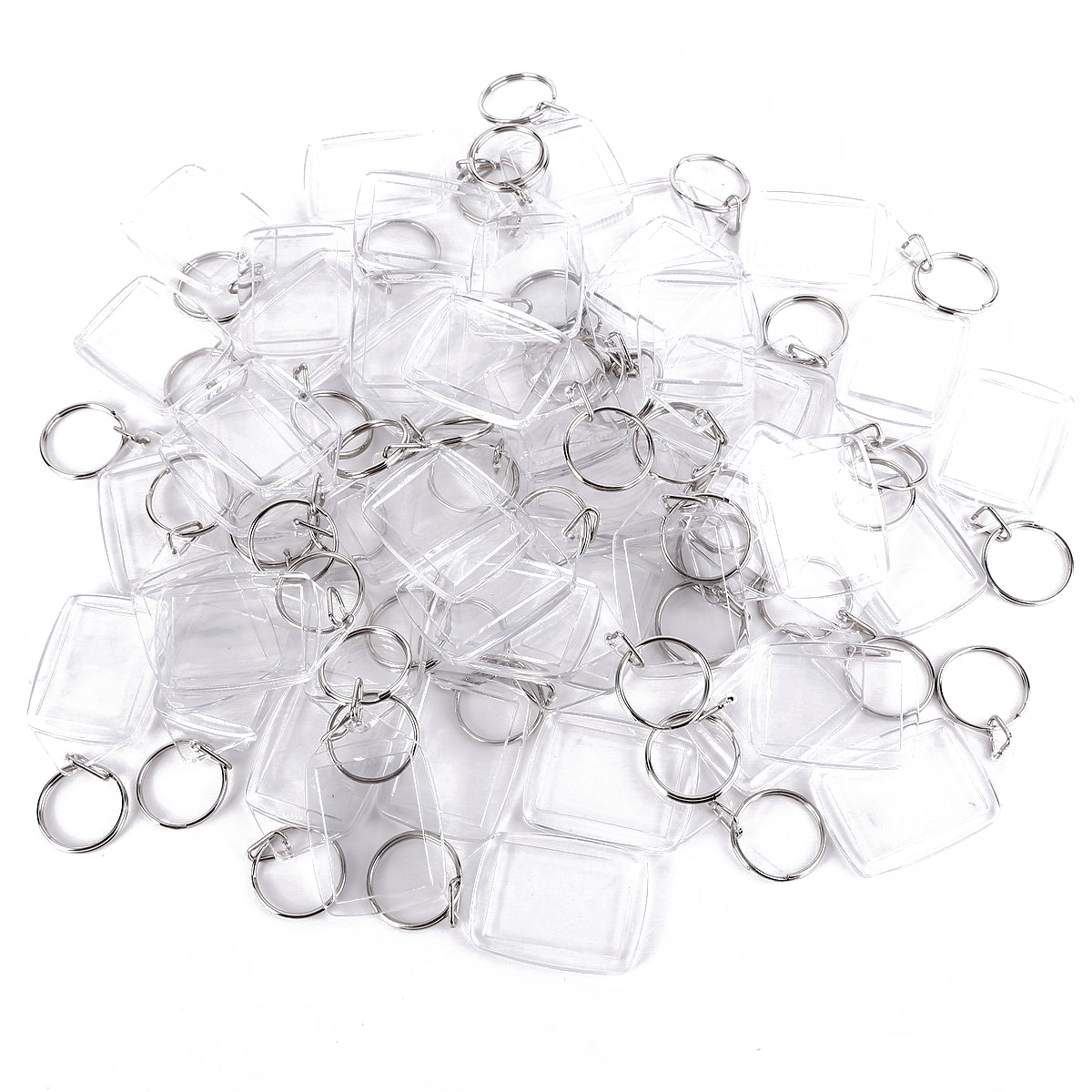 50 Piece Acrylic Keychain for Passport picture Photo image Blank Keyrings