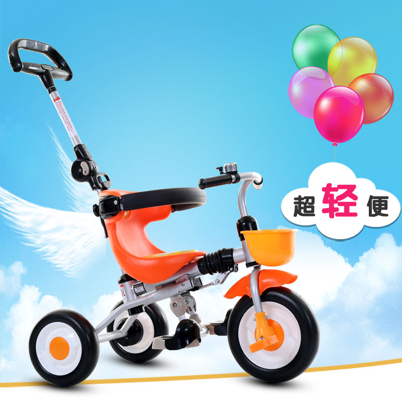 Inflatable Wheel Baby Push Tricycle Baby Walker Fold Baby