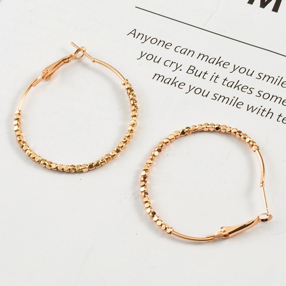 2018 Hot Sale Hoop Earrings Trendy Fashion Big Circle Round Earrings Basketball Brincos Loop Earrings for Women Earings Jewelry