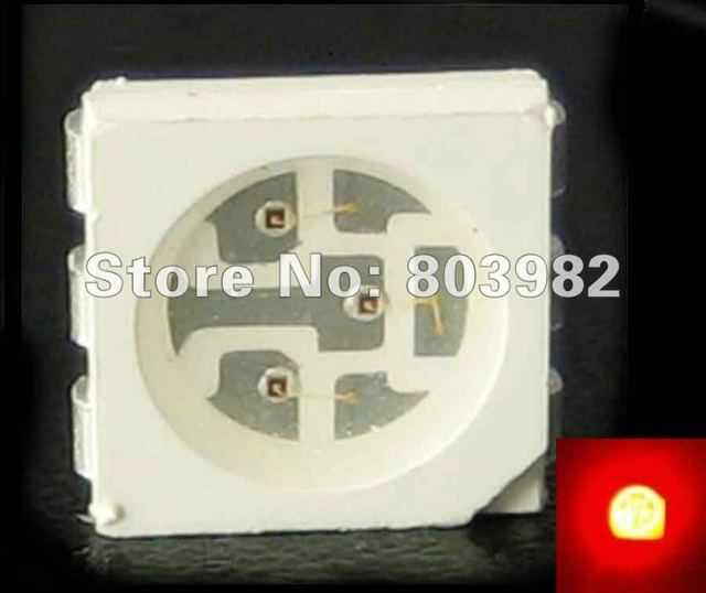 (CE&Rosh)High intensity smd led 5050 red led diode 620-625nm 2.0-2.2V Free shipping
