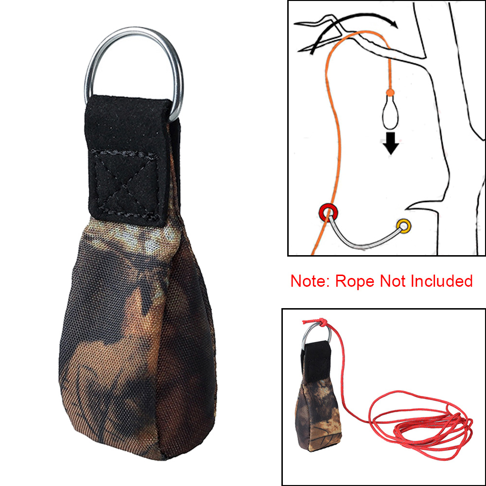 Tree Surgery Arborist Rock Climbing Throw Weight Bag Pouch Caving Rescue Safety Rope Throwing Bag