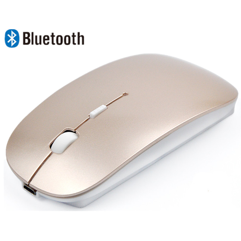 Rechargeable Bluetooth 3 0 Wireless Mouse Mini Slim Mice For Android Tablet Macbook Laptop Notebook