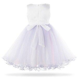 Image 2 - Cielarko 2019 חדש רשת פניני בנות נסיכת שמלת ילדי מסיבת חתונת שמלות ילדים פורמליות ערב כדור שמלות שמלת 3  10 שנה