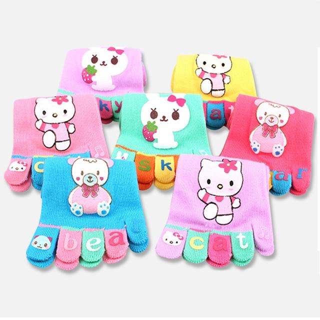 Детские носки «hello kitty» Носки для мальчиков и девочек с пятью пальцами chaussette детские носки с носком детские носки с 5 пальцами 6 пар