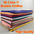 HOT-SALE 15PCS/LOT High Quality 56 Nice Color plain bubble chiffon shawl popular muslim hijab head wear fashion women wrap scarf