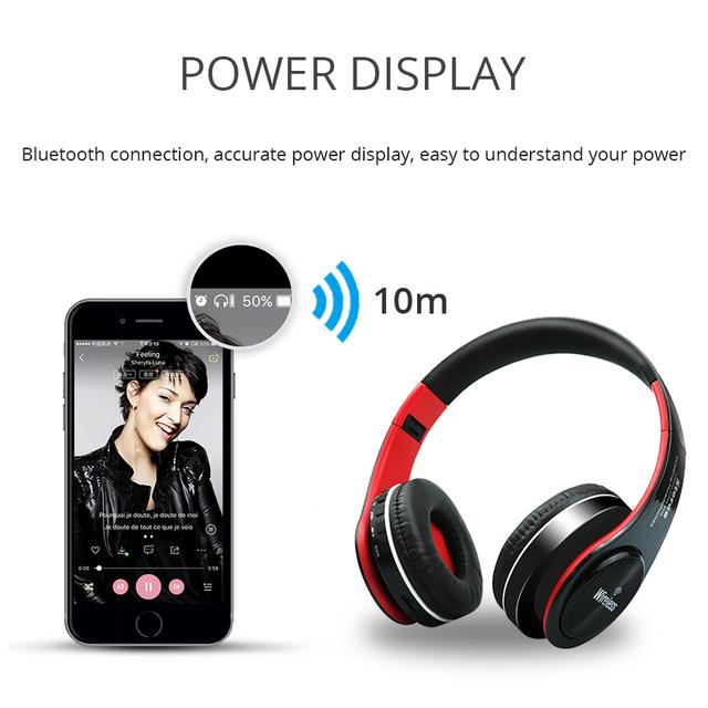 UYG bluetooth headphone wireless headphones stereo headset handsfree answer with Microphone TF Card mp3 FM Radio for smartphone