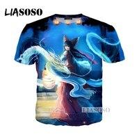 LIASOSO Original NOVO Anime Leste estilo camiseta 3D Impressão T-shirt/Hoodie/Camisola Unisex Cosplay Sexy kawaii T camisa Tops G346
