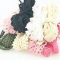 20 yardas delgada cinta de encaje de Macarons de encaje de algodón de Color corte decoración de la boda Scrapbooking encaje tejido 1 cm dientes de perro 1092