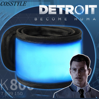 Detroit: Become Human Cosplay Connor LED Light Luminous Armband Armlet Cosplay Props RK800 Accessory Fans Gift Game Prop