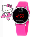 Cat Cartoon Hello Kitty Watch Baby Clock Children Gift Quartz Girl Wrist Kids Child Clock Cute Silicone Relogio Montre Enfant