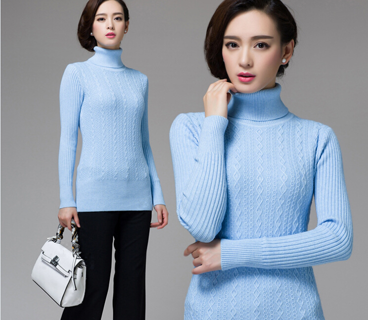 2015 Winter new fashion argyle plaid women's pullover cashmere ...