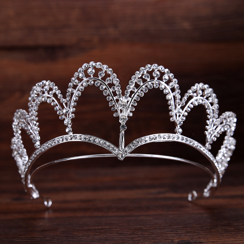 TUANMING Hot Fashion Silver Hairband Tiaras And Crowns Wedding Hair Accessories For Women Party Pageant Rhinestone Hair Jewelry