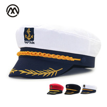 aa7ab788 Captain's retro navy flat coral caps makeup ball uniform hats boys fashion  outdoor new simple casual