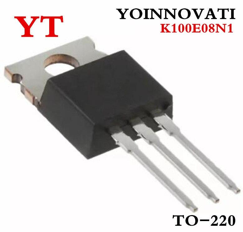 10Pcs TK100E08N1 K100E08N1 TK100A08N1 K100A08N1 TO-220//TO-220F 100A 80V