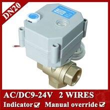 3/4 «AC/DC9-24V ДУ20 Латунь 3 способ T порт Мини клапана, 2 провода (CR2 02) электрический клапан нормально закрытый/нормально открытый