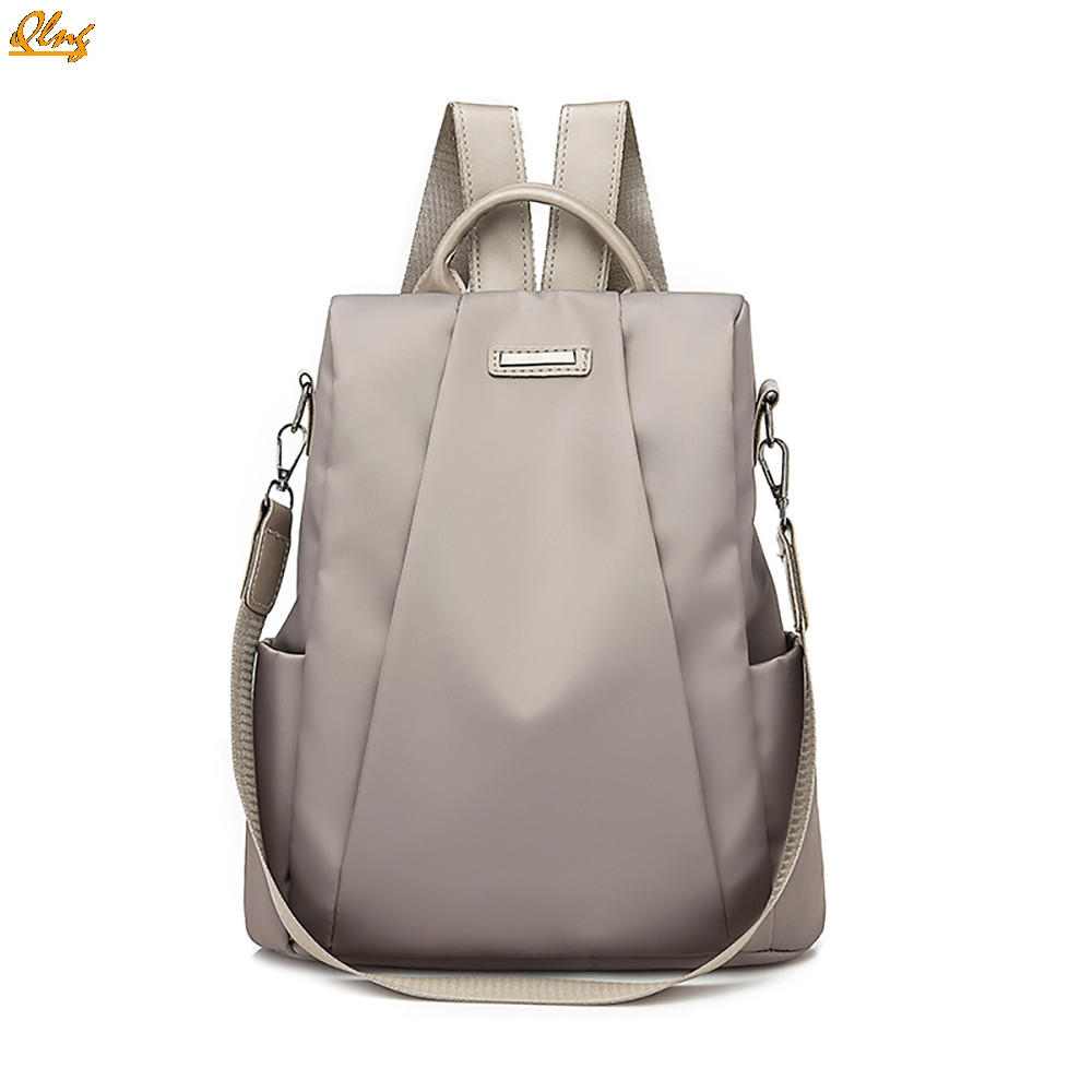 Qlng Women Travel backpack travel bag anti-theft Oxford cloth backpack