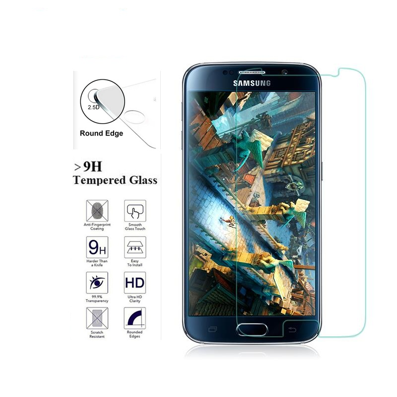 For <font><b>Samsung</b></font> S6 Screen Protective Film Tempered Glass for Galaxy S6 G9200 G920A <font><b>G920F</b></font> G920FD G920I G920S <font><b>SM</b></font>-G9200 Cover <font><b>Case</b></font> image