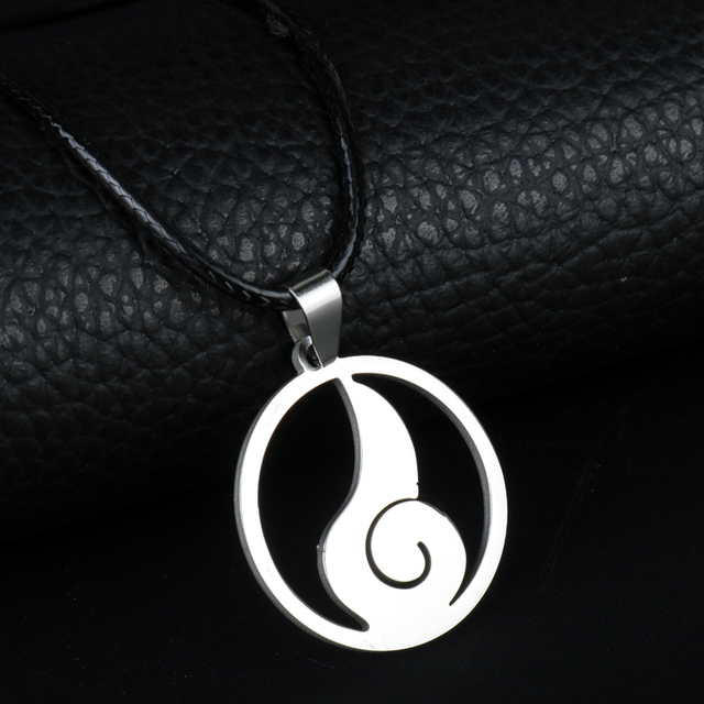 Naruto Clan Symbol Stainless Steel Pendant Necklace