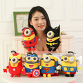 FREE SHIPPING 3D Eyes Despicable Me minions plush dolls avengers plush Captain America Superman  batman spiderman Plush Toy Doll