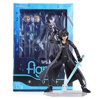 Anime Sword Art Online kirigaya kazuto Figma 174 PVC Action Figure Collectible Model Toy 15CM