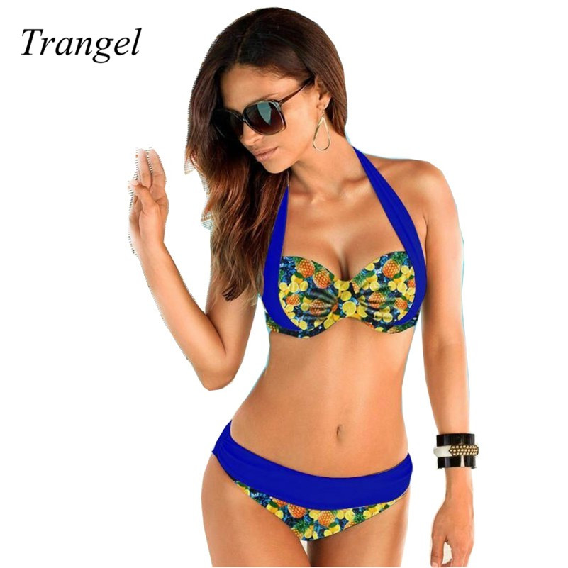 6ba69be6d2 2016 Pin Up Swimwear Bikini Maillot de bain Vintage Swimsuit High Waist  Bathing Suit Retro Green Ruffle Swimsuit
