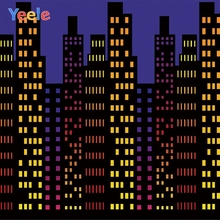 Yeele Cartoon City High Building Party Birthday Kid Photographic Backdrops Photography Backgrounds Personalized For Photo Studio