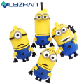 Leizhan minions usb flash drive 64 gb de alta velocidade usb stick 32 gb Pen Drive Real Capacidade 16 GB 8 GB Pendrive Flash Drive 4G USB presente