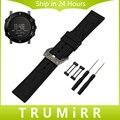 24mm de caucho de silicona correa + tallada hebilla de acero inoxidable 316l para suunto core correa de reloj pulsera pulsera con adaptador