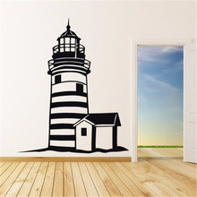 Large Lighthouse Wall Stickers Lighthouse Wall Decal Mediterranean Style Home Decor Wall Stickers