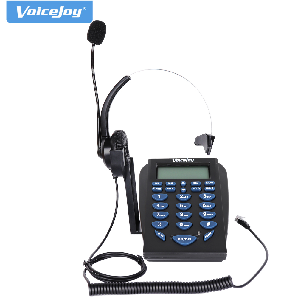 VoiceJoy Home/Office Telephone With RJ9 Headset Business